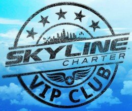 #Logo #design for #SkylineCharter – #passport #stamp style. Try the app at skylinecharter.com/vipclub | #designcookery
