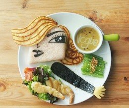 Brilliant. ~ regram @leesamantha Madonna!!! (Inspired by Argentinian illustrator,  Pablo Lobato)  foodart