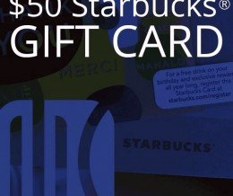 You can win a $50 @Starbucks GiftCard in our Facebook Contest! ENTER➔ TAP THE LINK IN OUR PROFILE