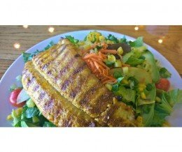 Mexican #ChopSalad w/ #Trout @ #FishsWildFishGrill, #Torrance | #TooGoodToBeSquare