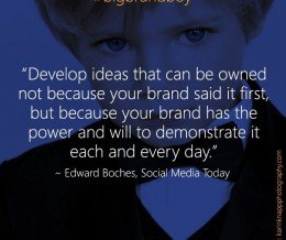 Does your brand live up to its big ideas? #bigbrandboy