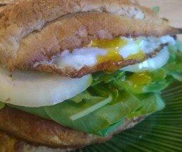 #KwonCanCook: Salmon #Slider w/ Fried #Egg @ Home