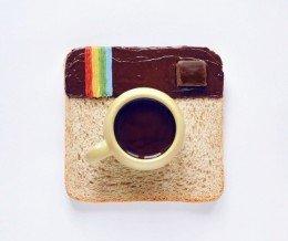 Fantastic #FoodArt by Daryna Kossar ~ regram @darynakossar #InstaLunch. #Toast & cup of #coffee :)