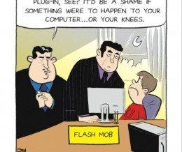 #FridayFunny: Flash Mob. Comic by Dan Thompson via @gocomics ~ https://mckry.co/1jIJ4Zs