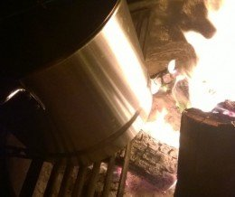 #Campfire cooking:  potatoes, corn, and sausages steamed with seawater @ #CarpinteriaStateBeach