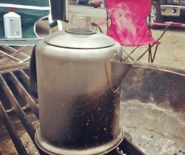 Good #morning! #Coffee is percolatin' over our campfire @ #CarpinteriaStateBeach