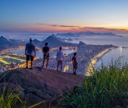 Good morning! For this opening day of the #WorldCup, here's a view of Rio de Janeiro, #Brazil. Photo by Stephen Alvarez via Instagram ~ regram @natgeo #Sunrise over #Rio from Two Brothers Mountain by @salvarezphoto
