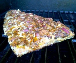 #Gastromedia Cooking: Spicy #salmon is on the #grill!
