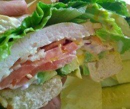 #Breakfast: Turkey #BagelSandwich @ #LoxOfBagels, #Torrance