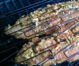 Spicy #catfish is on the #grill!