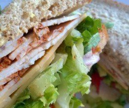 Wow! Great #sandwich! #Spicy #turkey on #wheat with everything minus mayo @ #DelReyDeliCo, #PlayaDelRey