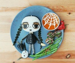 Happy Wednesday! Food art by Samantha Lee ~ regram @leesamantha Wednesday Addams