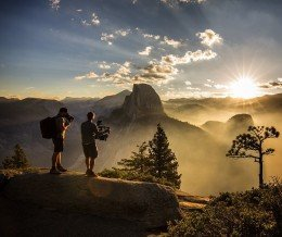 Good #morning! Photo by Jimmy Chin ~ regram @jimmy_chin Behind the scenes look at our recent Squarespace commercial shoot in #Yosemite