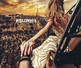 Amazing. Photo by Murad Osmann ~ regram @muradosmann #followmeto #Hollywood #helicopter #sunset
