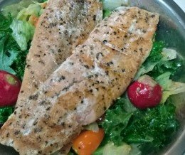 My #dinner tonight is actually grilled #salmon and a #salad.