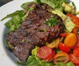 Grilled #steak #salad @ #PitfireArtisanPizza, #NoHo