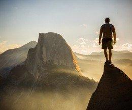 Good morning! Photo by Jimmy Chin ~ regram @jimmy_chin #Yosemite #halfdome