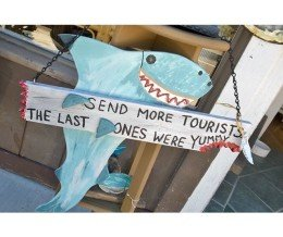 #SharkWeek #signage @ #TidePools, #Carpinteria