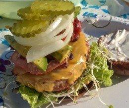 I made a fancy #burger at camp.