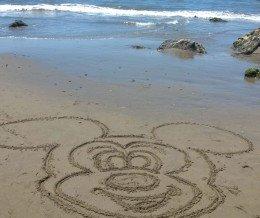 #Mickey says hello from #CarpinteriaStateBeach