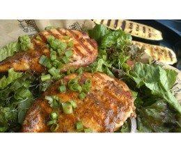 #Cajun #salmon #salad @ #FishBonzGrill, #Torrance – #DELICIOUS!