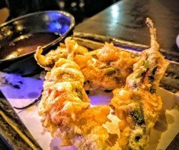 OMG this was so good! Fried #shishitopeppers stuffed with #spicytuna @ #SushiAkatora, #ManhattanBeach (Saturday)