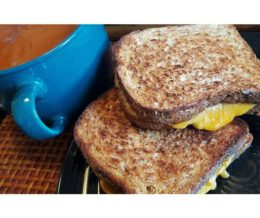 #Lunch today is homemade #comfortfood: #grilledcheese #sandwich w/ #tomatosoup :-) #mckrytw