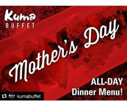 #Design: Here's a #MothersDay promo graphic for our client, @KumaBuffet of Torrance. How are you celebrating this Sunday?  #mckrytw