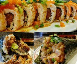 #SakuraRoll, #SpiderRoll & #Spicy #Albacore Roll @ #ChoChoSan, #Tarzana. We ❤️ design and marketing for restaurants! info@mediacookery.com