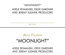 """When I learned of the Best Actress/Best Picture cards mix-up and then saw the screenshot of the card, I immediately felt sorry for Faye Dunaway and Warren Beatty. Like Steve Harvey's Miss Universe goof, this is something that could've been prevented with good design. All the money spent on these lavish events, yet they can't hire a competent graphic designer. Mind-boggling. Here, I demonstrate how better design could have saved the night. The first image above is their original design. The second image is my quick take on a more clear and fool-proof design. I have other issues with their font choices, but for this demonstration, I'm using the exact same fonts to show that sizing and placement alone make a big difference. – John Kwon   """"THE OSCARS®"""" trade/service mark © The Academy of Motion Picture Arts and Sciences®"""