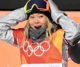 Our hometown champ, Chloe Kim of Torrance, CA!! 🙌🏼 #Repost @espn ・・・ It's a GOLD for Chloe Kim in the halfpipe! The 17-year-old American is youngest woman to win an Olympic snowboarding medal.