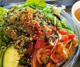 Poke bowl at @RollinPoke, Harbor City. Delicious! 😋 We ❤️ design and marketing for restaurants! info@mediacookery.com