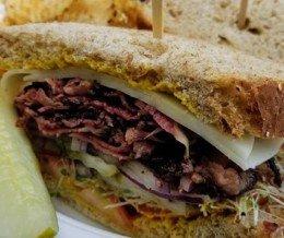 #Pastrami #sandwich at @TorranceBakery 😋 We ❤️ design and marketing for restaurants! info@mediacookery.com